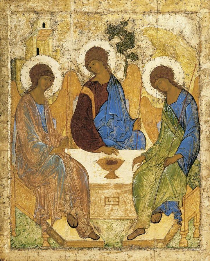 Некоторые богословские затруднения в понимании иконы преподобного Андрея Рублева «Святая Троица»
