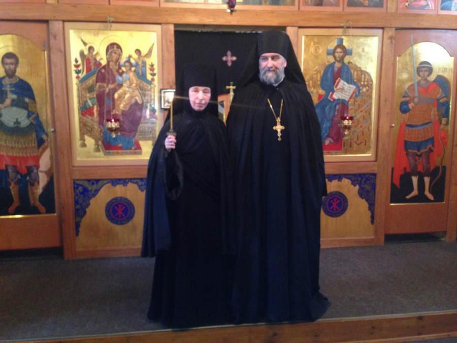 Наместник Коневского монастыря совершил  постриг в мантию инокини из сестричества в Каменке
