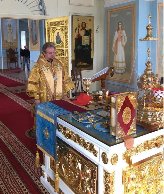 В день памяти сретения Владимирской иконы Божией Матери епископ Выборгский и Приозерский Игнатий совершил Литургию в Коневской обители