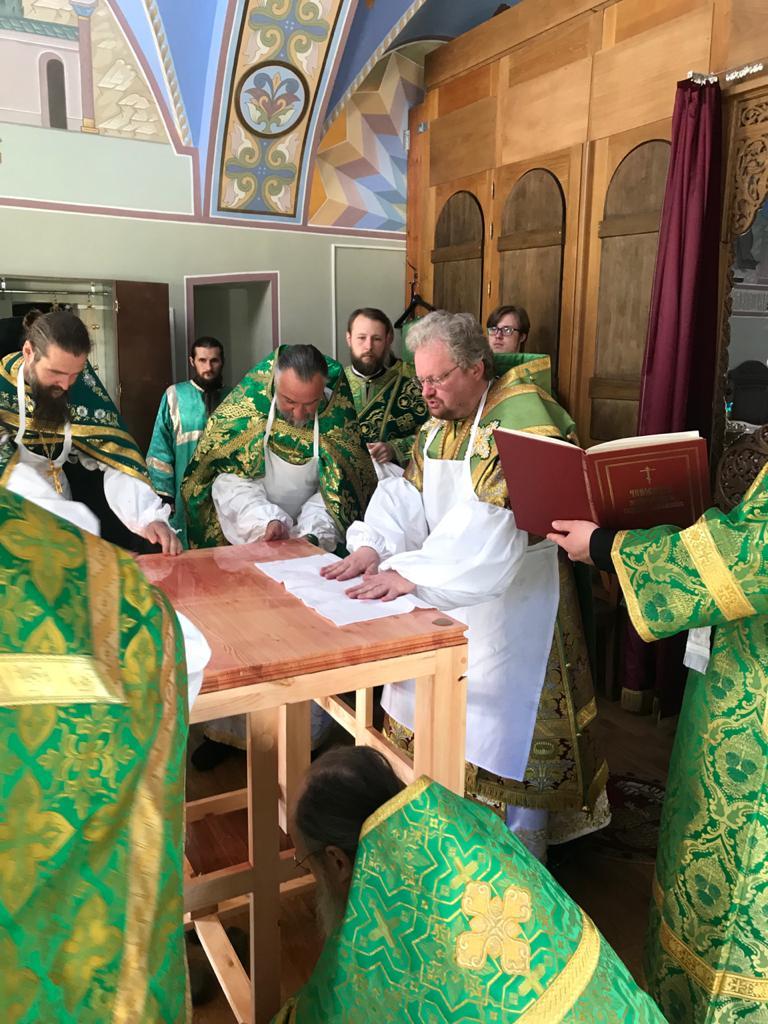 Епископ Выборгский и Приозерский Игнатий совершил освящение Великим чином Свято-Арсениевского храма Коневского монастыря