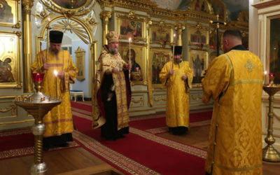 Братия Коневской обители поздравила наместника с Днем Ангела
