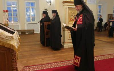 Богослужения Навечерия Рождества Христова совершены в Коневском монастыре