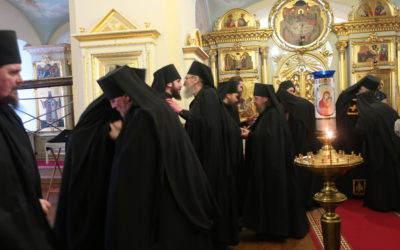 Чин прощения совершен накануне Великого поста в Коневском монастыре