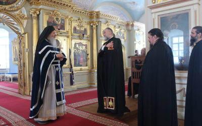 В среду 1-й седмицы Великого поста в Коневской обители совершили Литургию Преждеосвященных Даров — первую в 2021 году