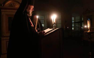 Чтение Великого канона прп. Андрея Критского совершается в Коневском монастыре