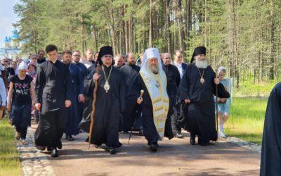 На Коневце состоялись торжества памяти преподобного Арсения Коневского, основателя островной обители