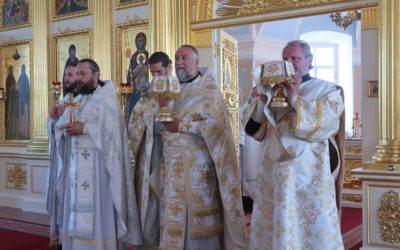 Богослужения праздника Вознесения Господня совершены в Коневской обители