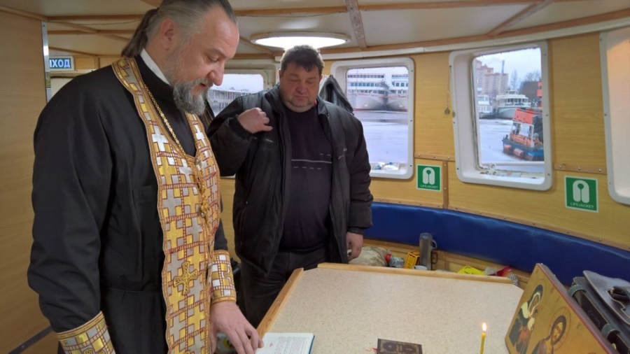 Модернизированный корабль Коневского монастыря «Коневец» совершил переход во Владимирскую бухту из Санкт-Петербурга