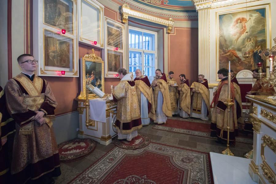 Наместник Коневской обители сослужил Преосвященнейшему Игнатию в кафедральном соборе Выборга