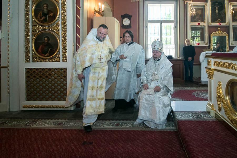Наместник Коневской обители сослужил епископу Выборгскому и Приозерском Игнатию, священноархимандриту монастыря, за Литургией в кафедральном соборе Выборга