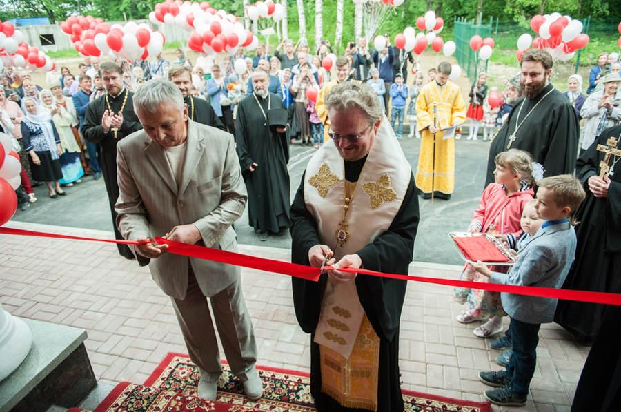 Наместник Коневской обители сослужил епископу Выборгскому и Приозерском Игнатию, священноархимандриту монастыря, при освящении духовно-просветительского центра в Колтушах