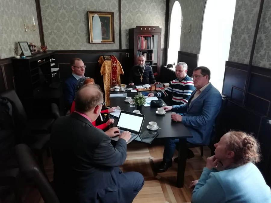 На петербургском подворье Коневского монастыря состоялась встреча наместника обители с представителем администрации г.Приозерска и мэром города Савонлинна