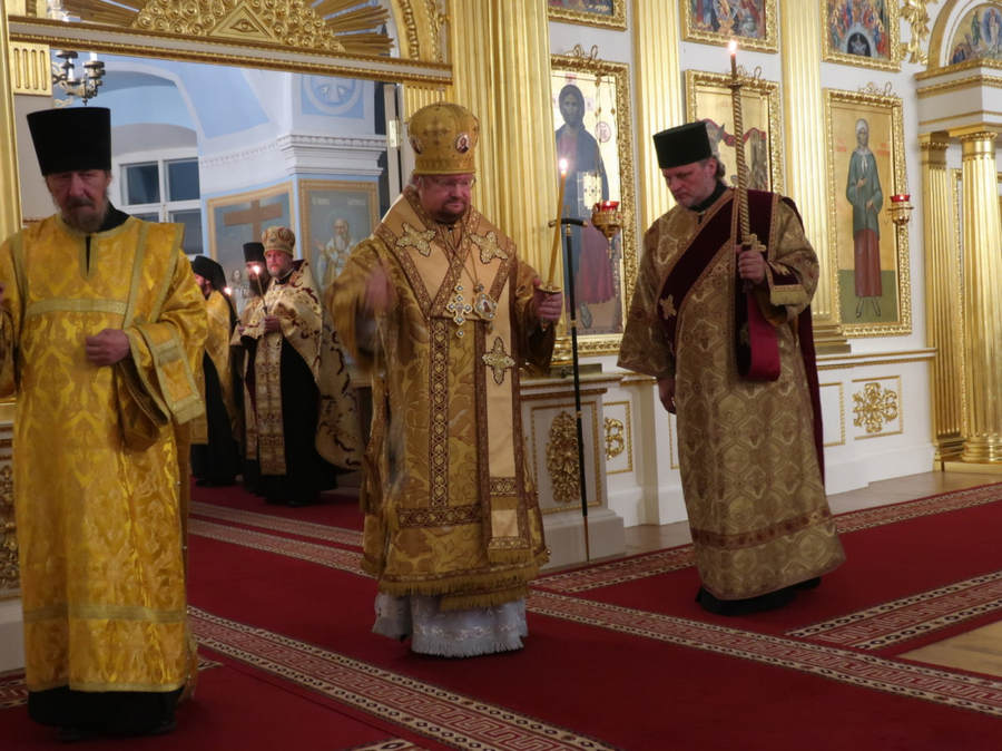 Епископ Выборгский и Приозерский Игнатий совершил богослужения Недели 15-й по Пятидесятнице в островной обители