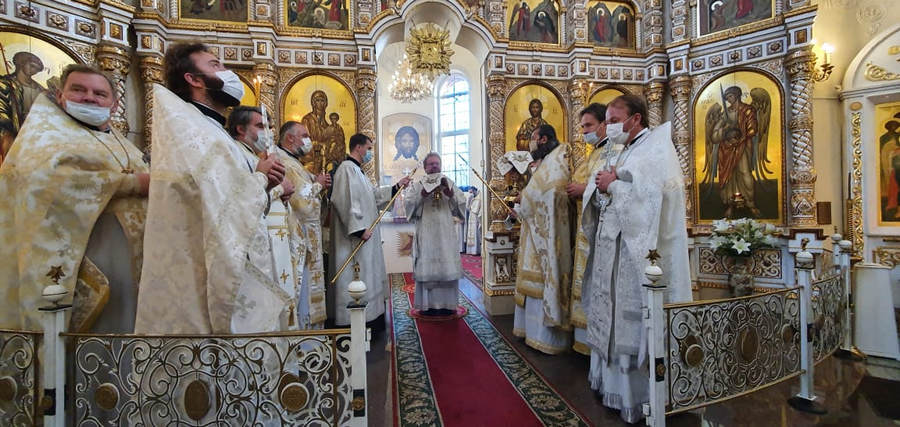 Наместник Коневской обители сослужил епископу Выборгскому и Приозерскому Игнатию  за Литургией престольного праздника в Токсово