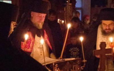 Наместник Коневской обители совершил Всенощное бдение накануне Вселенской родительской субботы на петербургском подворье монастыря