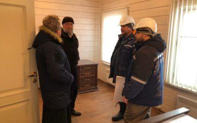 Владыка Игнатий ознакомился с ходом  реставрационных работ и  осмотрел хозяйственные  объекты на острове Коневец