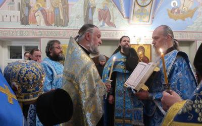 Торжественные богослужения праздника Благовещения Пресвятой Богородицы совершены в Коневской обители