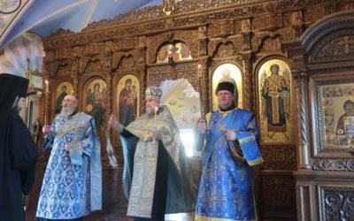 В Коневском монастыре совершена Литургия   праздника Похвалы Пресвятой Богородицы