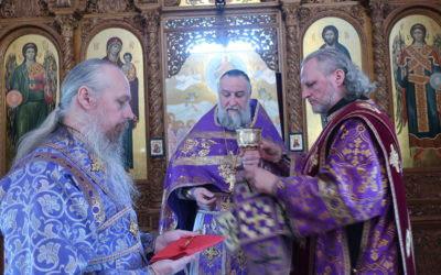 Богослужения Недели 5-й Великого поста совершили в Коневской обители