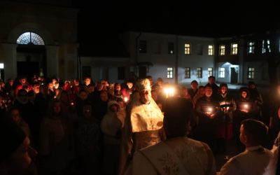 Светлую Пасху Христову встретили в Коневской обители