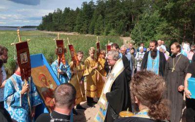 Епископ Выборгский и Приозерский Игнатий  возглавил торжества дня памяти Коневской иконы Богородицы