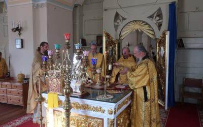 В день памяти Святогорской иконы Божией Матери владыка Игнатий совершил Божественную литургию в Коневском монастыре