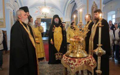 В Коневской обители совершили богослужения  Недели 7-й по Пятидесятнице, память Собора Смоленских святых